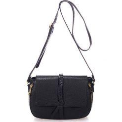 Torebki klasyczne damskie: Skórzana torebka w kolorze czarnym - 26 x 18 x 10 cm