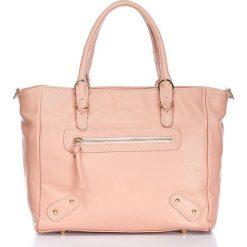 """Torebki klasyczne damskie: Skórzana torebka """"Ivresse"""" w kolorze jasnoróżowym – 31 x 27 x 11 cm"""