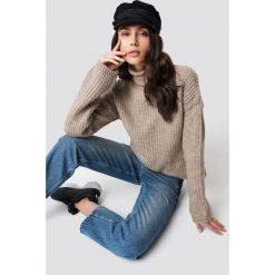 Trendyol Sweter z golfem Vizon - Beige. Brązowe swetry oversize damskie Trendyol, z dzianiny. Za 100,95 zł.