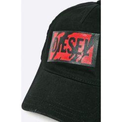 Diesel - Czapka. Szare czapki z daszkiem męskie marki Diesel, z bawełny. W wyprzedaży za 279,90 zł.