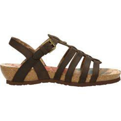 Sandały Panama Jack. Czarne sandały damskie marki bonprix, w paski, na koturnie. Za 249,90 zł.