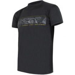 Sensor Koszulka Coolmax Fresh Pt Gps Black  Xl. Czarne koszulki do fitnessu męskie Sensor, l, z nadrukiem. W wyprzedaży za 120,00 zł.