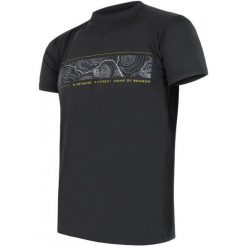 Odzież termoaktywna męska: Sensor Koszulka Coolmax Fresh Pt Gps Black  Xl