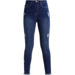 Rurki damskie: Missguided BLUE SINNER RIPPED Jeansy Slim Fit navy