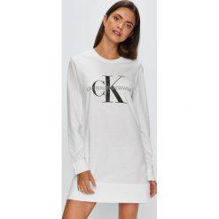 Calvin Klein Underwear - Koszula nocna. Szare koszule nocne i halki Calvin Klein Underwear, z bawełny. Za 199,90 zł.