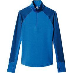 Bluzy rozpinane damskie: Adidas Bluza termoaktywna Techfit Coldweather 1/2 Zip Niebieska, Rozmiar L (S94432*L)