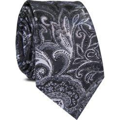 Krawat jedwabny KWWR000353. Szare krawaty męskie Giacomo Conti, z jedwabiu, eleganckie. Za 129,00 zł.