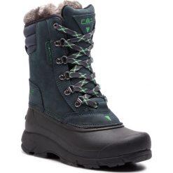 Śniegowce CMP - Kinos Wmn Snow Boots Wp 2.0 38Q4556 Antracite/Ice Mint 60BN. Zielone buty zimowe damskie marki CMP, z materiału. W wyprzedaży za 279,00 zł.