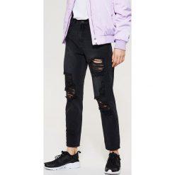 Spodnie z wysokim stanem: Jeansy z wysokim stanem - Czarny