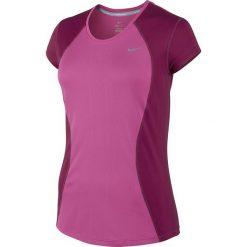 Bluzki asymetryczne: koszulka do biegania damska NIKE RACER SHORT SLEEVE / 645443-612 - NIKE RACER SHORT SLEEVE