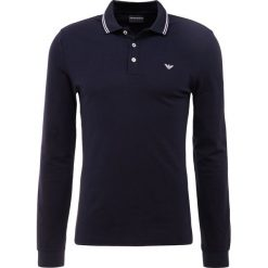 Emporio Armani Koszulka polo blu scuro. Szare koszulki polo marki Emporio Armani, l, z bawełny, z kapturem. Za 509,00 zł.