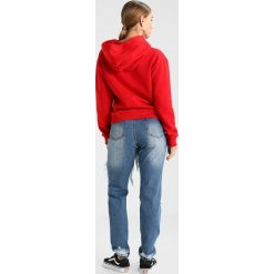 Bluzy rozpinane damskie: Topshop Petite USAF HOODIE Bluza z kapturem red