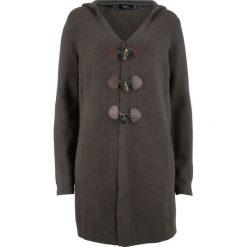 Długi sweter rozpinany z kapturem bonprix antracytowy. Szare kardigany damskie marki Mohito, l. Za 129,99 zł.