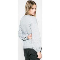 Only - Bluza. Szare bluzy damskie marki ONLY, s, z bawełny, casualowe, z okrągłym kołnierzem. W wyprzedaży za 69,90 zł.
