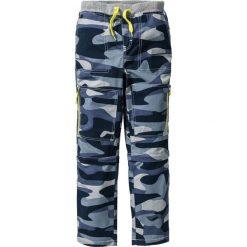 Odzież chłopięca: Spodnie z odpinanymi nogawkami, z mocnego i szybko schnącego materiału bonprix ciemnoniebieski wzorzysty