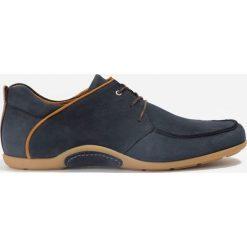 Półbuty granatowe. Niebieskie buty wizytowe męskie Badura. Za 215,99 zł.