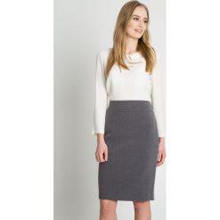 Spódniczki: Szara ołówkowa spódnica BIALCON