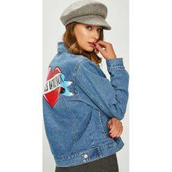 Answear - Kurtka. Szare kurtki damskie jeansowe marki ANSWEAR, l. W wyprzedaży za 139,90 zł.