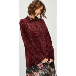 Answear - Sweter. Brązowe swetry klasyczne damskie marki ANSWEAR, l, z dzianiny, z okrągłym kołnierzem. W wyprzedaży za 79,90 zł.