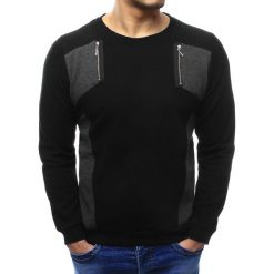 Swetry męskie: Sweter męski czarny (wx1029)