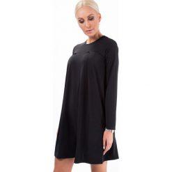 Sukienki: Sukienka rozkloszowana czarna 6511