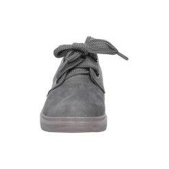 Buty Casu  Szare półbuty sznurowane na koturnie  662 - 2