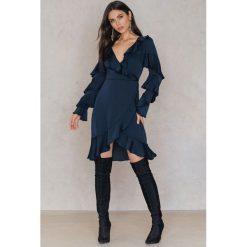 Sukienki: Keepsake Sukienka Love Bound LS Wrap – Navy