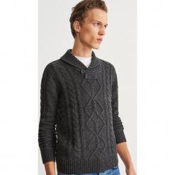 Sweter z domieszką wełny - Szary. Szare swetry klasyczne męskie Reserved, l, z wełny. Za 159,99 zł.