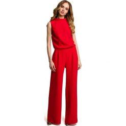 Odzież damska: Kombinezon bez rękawów - czerwony