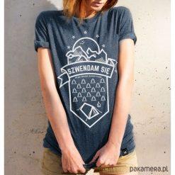 Bluzki, topy, tuniki: Koszulka damska - Szwendam się NAMIOT jeansowy
