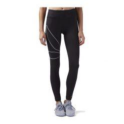 Reebok Spodnie damskie Long Tight czarne r. XS (BQ9996). Szare spodnie sportowe damskie marki Reebok, l, z dzianiny, casualowe, z okrągłym kołnierzem. Za 214,07 zł.