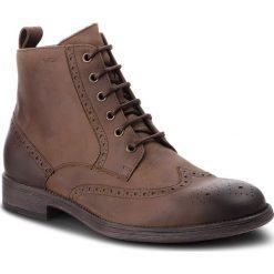 Kozaki GEOX - U Jaylon G U84Y7G 00045 C6009 Coffee. Brązowe buty zimowe męskie Geox, z materiału. W wyprzedaży za 439,00 zł.