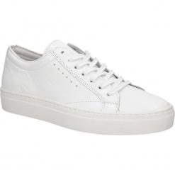Białe buty sportowe skórzane sznurowane Creator S-1872AS. Białe buty sportowe damskie marki Casu. Za 249,99 zł.