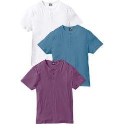 T-shirt (3 szt.) bonprix jagodowy + niebieski dżins + biały. Fioletowe t-shirty męskie marki Reserved, l, z bawełny. Za 98,97 zł.