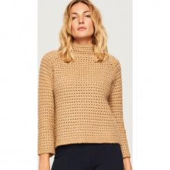 Miękki sweter z półgolfem - Kremowy. Białe swetry klasyczne damskie Reserved, l. Za 139,99 zł.