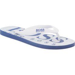 Japonki BOSS - Wave 50388497 10208294 01 White 100. Białe japonki męskie Boss, z materiału. Za 179,00 zł.