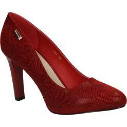 Czerwone czółenka na słupku wzór wąż Sergio Leone 1457. Brązowe buty ślubne damskie marki bonprix, na obcasie. Za 88,99 zł.