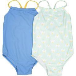 Stroje jednoczęściowe dziewczęce: Jednoczęściowy kostium kąpielowy, zestaw 2 sztuk