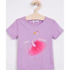 Trendyol - Top dziecięcy 98-128 cm. Różowe bluzki dziewczęce bawełniane marki Mayoral, z okrągłym kołnierzem. W wyprzedaży za 29,90 zł.