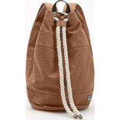 Plecaki męskie: Plecak worek z regulacją na sznurek – Brązowy