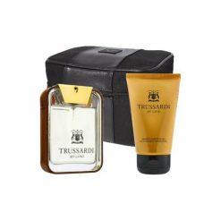 Kosmetyczki męskie: TRUSSARDI My Land Zestaw dla mężczyzn  EDT 100ml + Żel pod prysznic 100ml + kosmetyczka