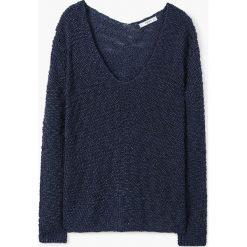 Mango - Sweter Mirror. Czerwone swetry klasyczne damskie marki Mango, l, z dzianiny. W wyprzedaży za 59,90 zł.