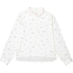 Koszula ze wzorem 10-16 lat. Białe bluzki dziewczęce z długim rękawem La Redoute Collections, z wiskozy, z klasycznym kołnierzykiem. Za 70,52 zł.