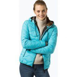 Superdry - Damska kurtka pikowana, niebieski. Szare kurtki damskie pikowane marki Superdry, l, z nadrukiem, z bawełny, z okrągłym kołnierzem. Za 589,95 zł.