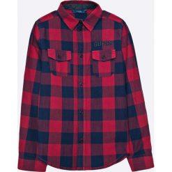 Guess Jeans - Koszula dziecięca 118-176 cm. Brązowe koszule chłopięce z długim rękawem Guess Jeans, l, z aplikacjami, z bawełny, z klasycznym kołnierzykiem. W wyprzedaży za 129,90 zł.