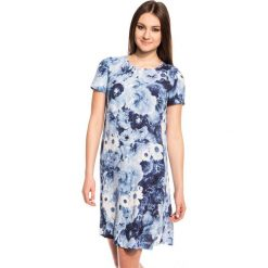 Sukienki: Sukienka w niebieskie kwiaty BIALCON