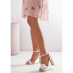 Sandały damskie: Białe Sandały Contemporary