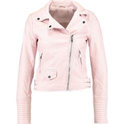 Bomberki damskie: Jennyfer Kurtka ze skóry ekologicznej light pink
