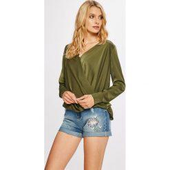 Guess Jeans - Bluzka Malou. Szare bluzki asymetryczne Guess Jeans, l, z jeansu. Za 369,90 zł.