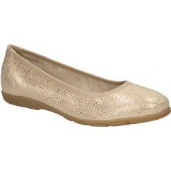 Baleriny złote skórzane Caprice 9-22150-26. Żółte baleriny damskie Caprice. Za 179,99 zł.